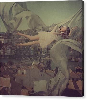 Morning Over Oporto Canvas Print by Anka Zhuravleva