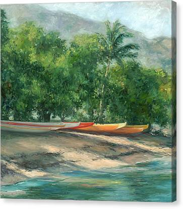 Morning Paddle Canvas Print by Stacy Vosberg