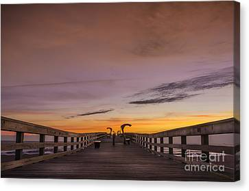 Augustine Canvas Print - Morning Pier Deck by Marvin Spates