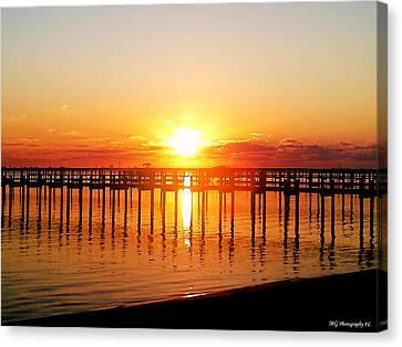 Morning Pier Canvas Print by Marty Gayler