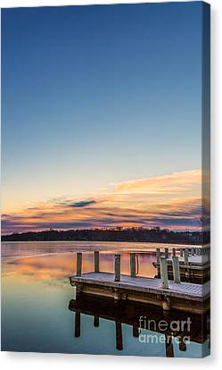 Morning Pier Pressure Canvas Print by Andrew Slater