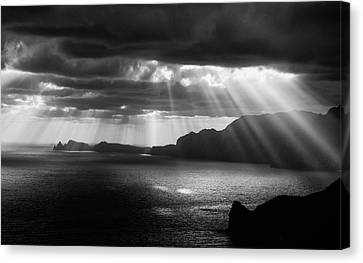Dark Skies Canvas Print - Morning Rays by Artfiction (andre Gehrmann)