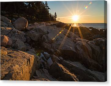 Autumn Landscape Canvas Print - Morning Rays by Kristopher Schoenleber