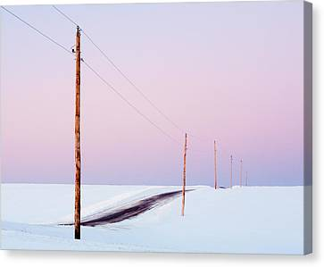 Morning Road Canvas Print by Todd Klassy
