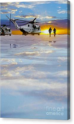 Morning Run Canvas Print by Jon Neidert