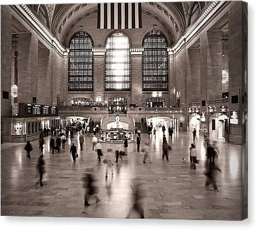 Canvas Print featuring the photograph Morning Rush - Grand Central Terminal by James Howe