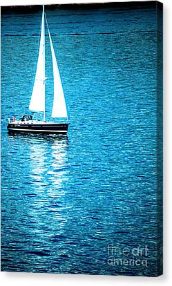 Sail Cloth Canvas Print - Morning Sail by Flamingo Graphix John Ellis