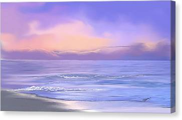 Morning Sea Breeze Canvas Print by Anthony Fishburne