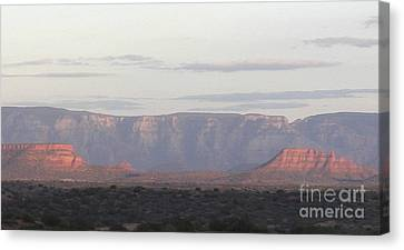 Canvas Print featuring the photograph Morning Sedona.... by George Mount