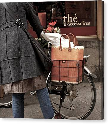Canvas Print featuring the photograph Morning Shopping by Colleen Williams
