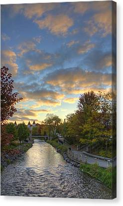 Morning Sky On The Fox River Canvas Print by Daniel Sheldon