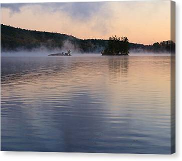 Canvas Print featuring the photograph Morning Smoke by Paul Noble