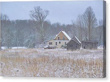 Morning Snow Canvas Print by Joy Nichols