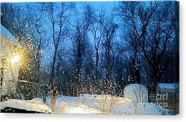 Snowy Morning Canvas Print by Rose Wang
