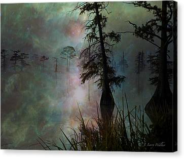 Canvas Print featuring the digital art Morning Solitude by J Larry Walker
