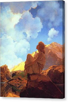 Morning Spring Canvas Print by Maxfield Parrish