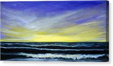 Morning Star And The Sea Oceanscape Canvas Print