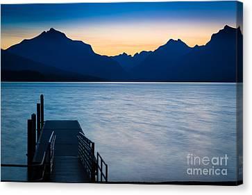 Lake Mcdonald Canvas Print - Morning Stillness by Inge Johnsson