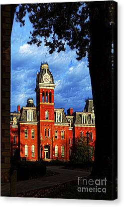 Morning Sun Hitting Woodburn Hall Paintography Canvas Print by Dan Friend