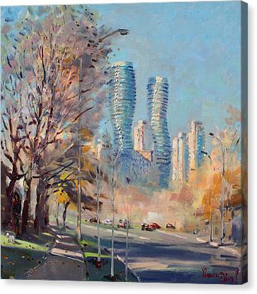 Morning Sunlight In Mississauga Canvas Print by Ylli Haruni