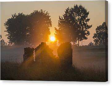 Morning Sunrise At Philadelphia Cricket Club Canvas Print by Bill Cannon