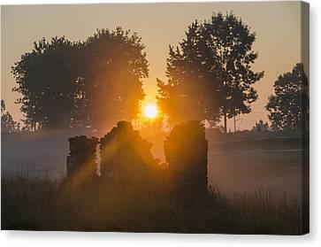 Philadelphia Cricket Club Canvas Print - Morning Sunrise At Philadelphia Cricket Club by Bill Cannon