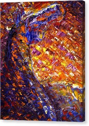 Canvas Print featuring the painting Morning Sunrise by Jennifer Godshalk