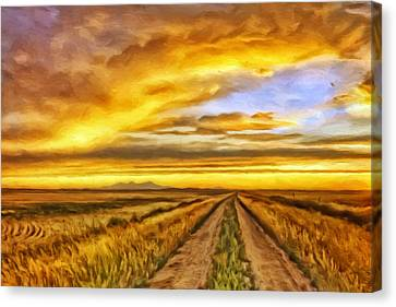 Morning Sunrise Canvas Print by Michael Pickett