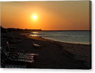 Canvas Print featuring the photograph Morning Sunrise Over The Cape by John Hoey