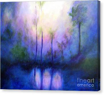 Canvas Print featuring the painting Morning Symphony by Alison Caltrider