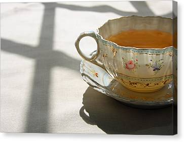 Canvas Print featuring the photograph Morning Tea by Brooke T Ryan