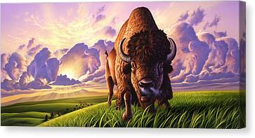 Morning Thunder Canvas Print by Jerry LoFaro