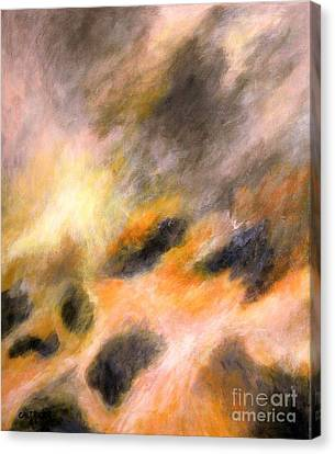 Canvas Print featuring the painting Morning Tide by Alison Caltrider