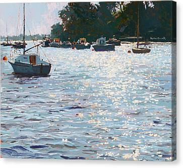 Morning Tide Canvas Print by Martin Decent