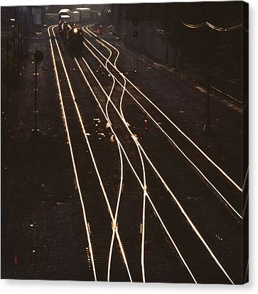 Morning Train Canvas Print by Don Spenner