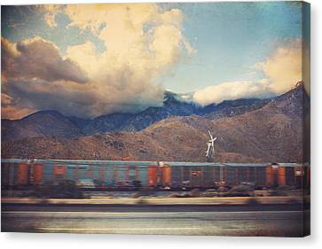 Morning Train Canvas Print by Laurie Search