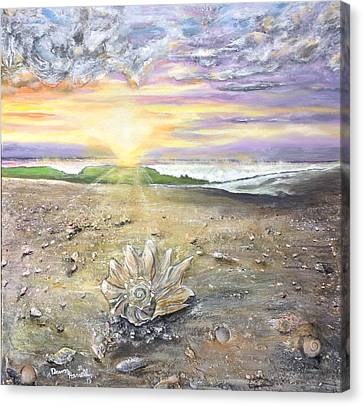 Canvas Print featuring the painting Morning Treasure by Dawn Harrell