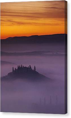 Morning Tuscan Mist Canvas Print by Andrew Soundarajan
