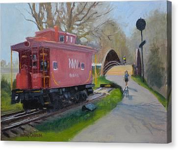 Morning Warrenton Branch Canvas Print