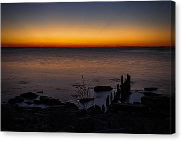Morning Water Colors Canvas Print by CJ Schmit