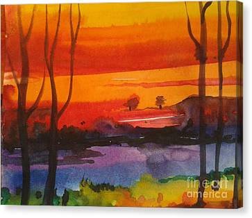 morning X Canvas Print by Sanjay Punekar