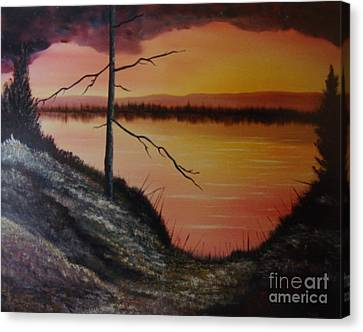 Canvas Print featuring the painting Morning Yes by Stuart Engel
