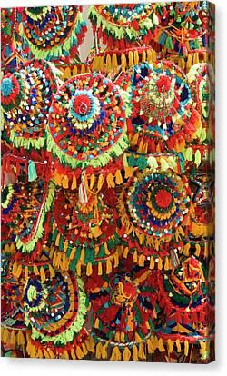 Moroccan Caps For Sale, Souk Canvas Print by Nico Tondini