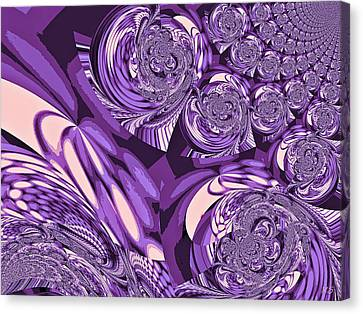 Moroccan Lights - Purple Canvas Print by Absinthe Art By Michelle LeAnn Scott