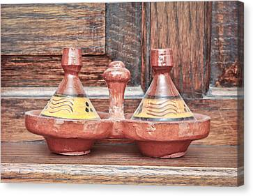 Ceramic Canvas Print - Moroccan Tagine by Tom Gowanlock