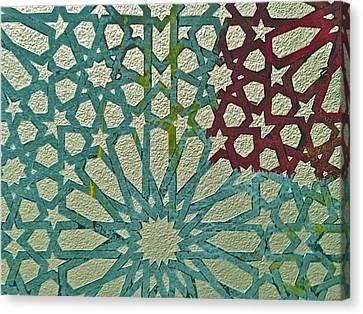Moroccan Tile Design Canvas Print