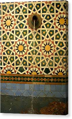 Moroccan Water Fountain Canvas Print by Ralph A  Ledergerber-Photography
