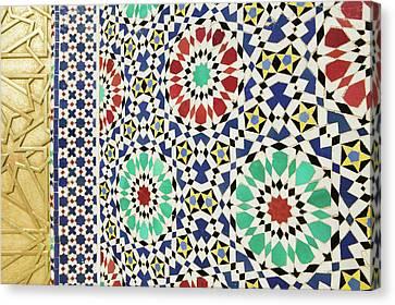 Morocco, Fes Fes, Jdid (royal Fes Canvas Print by Walter Bibikow