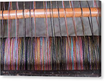 Morocco, Fes Medina, Weaving In The Old Canvas Print