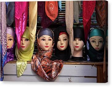 Morocco, Fes Moroccan Head Scarves Canvas Print